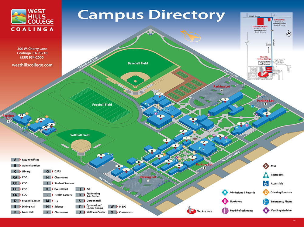 Coalinga California Map.Map West Hills College Coalinga